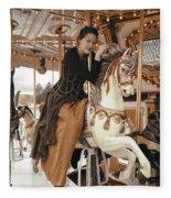 Caramel Carousel Fleece Blanket