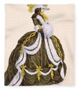Caramel Dress For Presentation Fleece Blanket