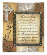 Caramel Scripture Fleece Blanket