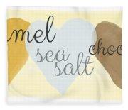 Caramel Sea Salt And Chocolate Fleece Blanket