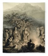 Caravan Of Armenian Merchants Fleece Blanket