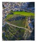 Carcabuey Castle From The Air Fleece Blanket
