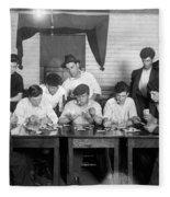 Card Game, 1916 Fleece Blanket