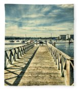 Cardiff Bay Wetlands 2 Fleece Blanket