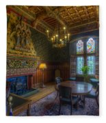 Cardiff Castle Apartment Dining Room Fleece Blanket