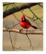 Cardinal Beauty Fleece Blanket