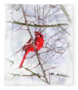 Cardinal Christmas-2014 Fleece Blanket