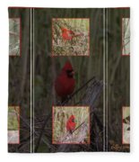 Cardinal Family Fleece Blanket