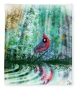 Cardinal - Featured In Comfortable Art-wildlife-and Nature Wildlife Groups Fleece Blanket