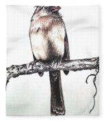 Cardinal Female Fleece Blanket