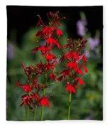 Cardinal Flowers Fleece Blanket
