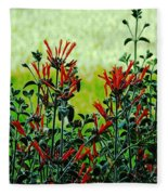 Cardinal Flowers Fleece Blanket