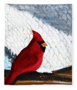 Cardinal In The Dogpound Fleece Blanket