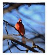 Cardinal In The Midst Fleece Blanket