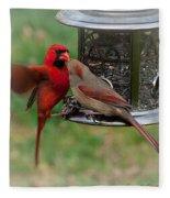 Cardinal Kiss Fleece Blanket