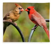 Cardinal Love Fleece Blanket