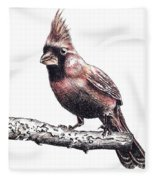 Cardinal Male Fleece Blanket