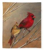 Cardinal Mates Fleece Blanket