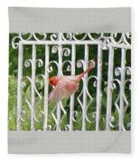 Cardinal Tail Up Landing Fleece Blanket