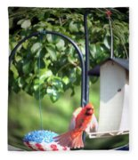 Cardinal Tail Wide Landing Digital Art Fleece Blanket
