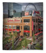 Cardinals Nation Ballpark Village Dsc06176 Fleece Blanket