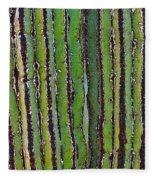 Cardon Cactus Texture. Fleece Blanket