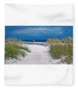 Carefree Days By The Sea Fleece Blanket