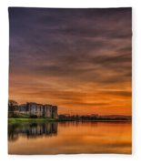Carew Castle Sunset 1 Fleece Blanket