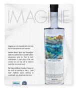 Carey Chen Big Chill Vodka By Jimmy Johnson Fleece Blanket