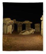 Carhenge At Night Fleece Blanket