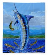 Caribbean Blue Off0041 Fleece Blanket