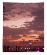 Caribbean Cruise Light Show Fleece Blanket