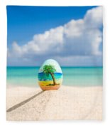 Caribbean Easter Egg Fleece Blanket