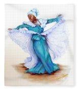 Caribbean Folk Dancer Fleece Blanket
