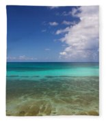 Caribbean Ocean Panorama Fleece Blanket