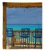 Caribbean View-island Grill Grand Cayman Fleece Blanket