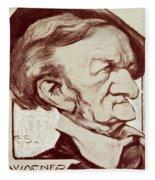 Caricature Of Richard Wagner Fleece Blanket