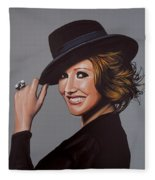Carice Van Houten Painting Fleece Blanket
