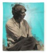 Carl Sandburg Fleece Blanket