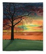 Carla's Sunrise Fleece Blanket
