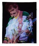 Carlos Santana At The Berkeley Greek Theater-september 13th 1980 Fleece Blanket