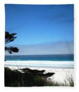 Carmel Beach California Usa Fleece Blanket