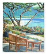 Carmel Lagoon View Fleece Blanket
