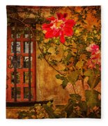 Carmel Mission Wall Fleece Blanket