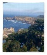 Carmel's Coastline Fleece Blanket