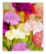 Carnation Bouquet Fleece Blanket