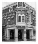 Carnation Cafe Main Street Disneyland Bw Fleece Blanket