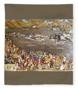 Carnival At River Fleece Blanket