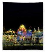 Carnival Life At Night 01 Fleece Blanket