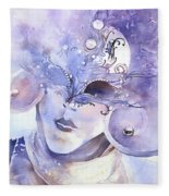 Carnival Mask Fleece Blanket